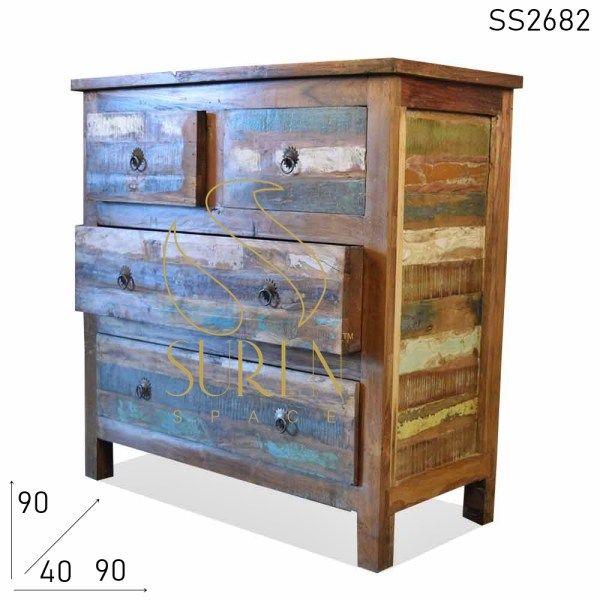 SS2682 Suren Space Reclaimed Wood Hand Crafted Drawer Chest