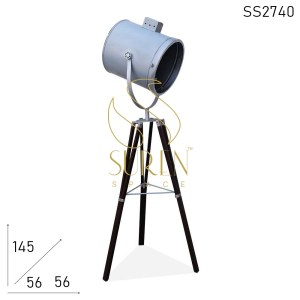 SS2740 SUREN SPACE Metal Silver Finish Folding Industrial Lamp Design