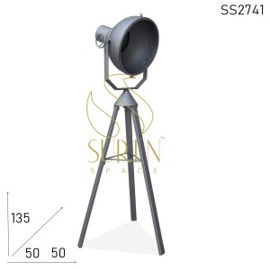 SS2741 SUREN SPACE Silver Finish Folding Industrial Floor Lamp Design