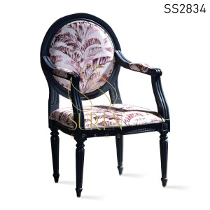 Carved Hand Rest Solid Wood French Furniture Inspire Chair