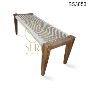 Dual Shade Solid Wood RopeWork Bench