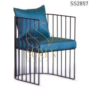MS Iron Upholstered Outdoor Rest Chair