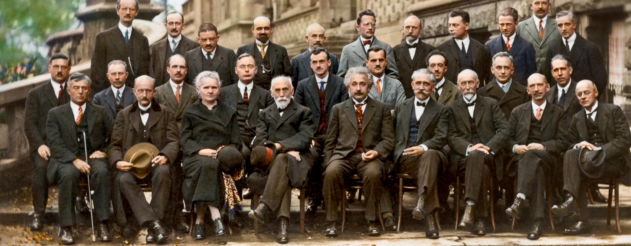 Fifth Solvay Conference On Physics 1927 Color Photo
