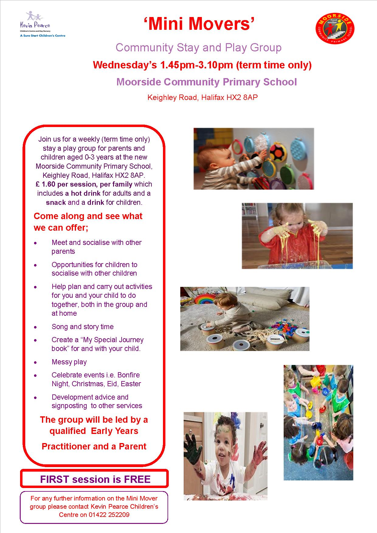 Mini Movers Stay and Play Group (term time only)   Sure Start