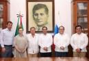 El Gobernador Mauricio Vila Dosal recibe la visita del Embajador de Rusia en México, Viktor Koronelli