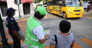 Buena aceptación ciudadana al entrar en funcionamiento los nuevos circuitos de acercamiento entre paraderos en el Centro Histórico de Mérida