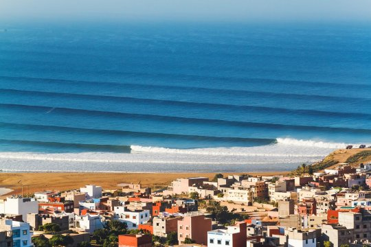 Вид на спот Banana Point | школа серфинга Surf-Burg