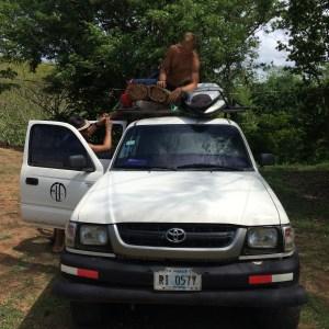 Surf trip Popoyo - voiture prête pour le départ