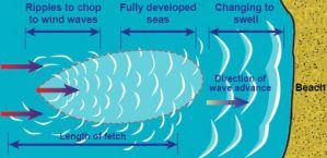 Fetch - la création des vagues