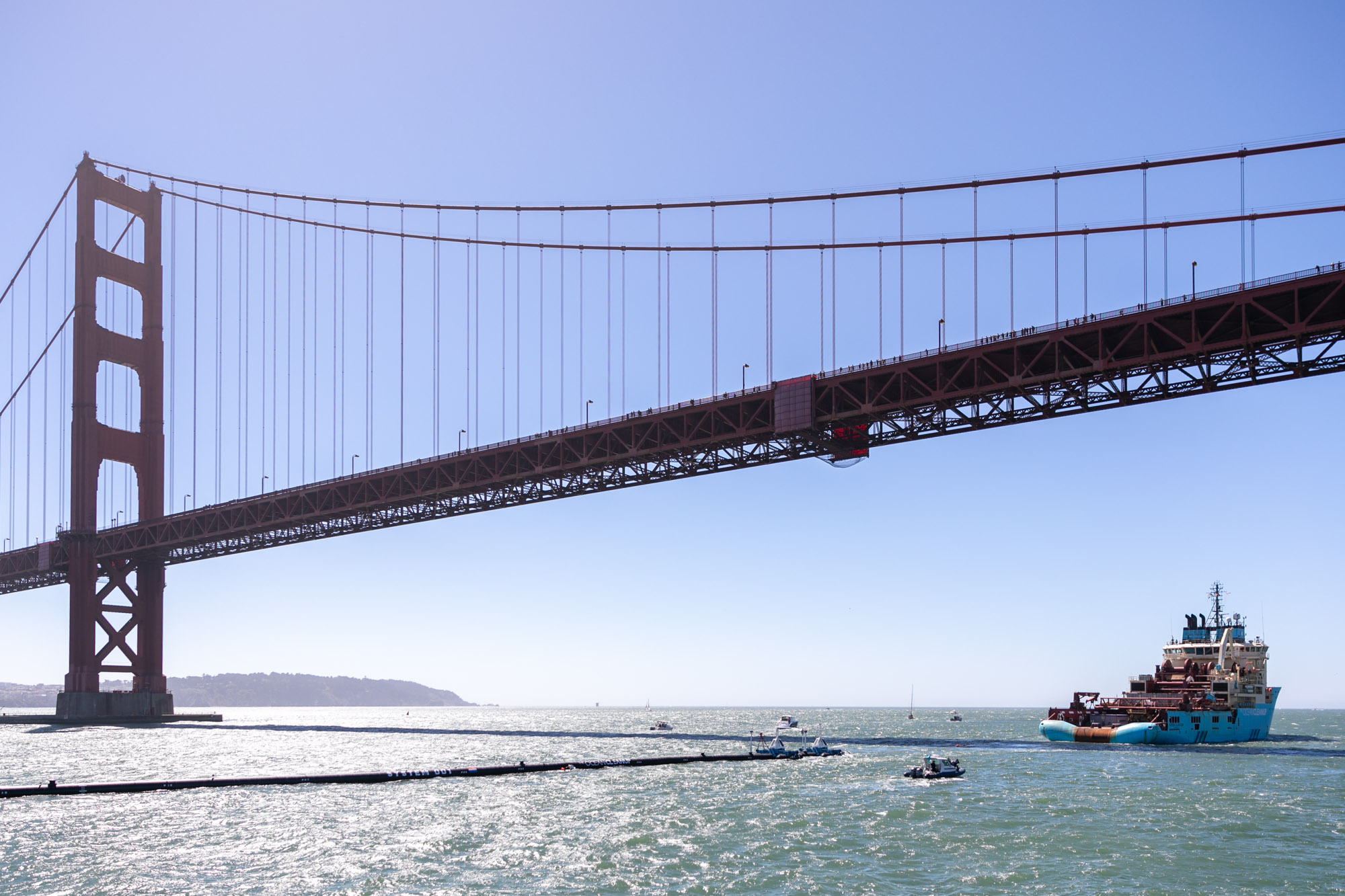 SAN FRANCISCO, CALIFORNIA, September 8, 2018 – The Ocean Cleanup Soon to Begin Removing Plastic Pollution from the Great Pacific Garbage Patch - Photo: Pierre AUGIER for The OCEAN CLEANUP