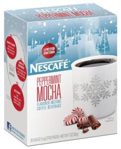 Nescafe peppermint mocha sample