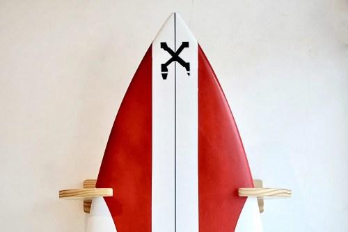 vertical surfboard rack handmade in