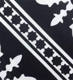 Clermont White on Black