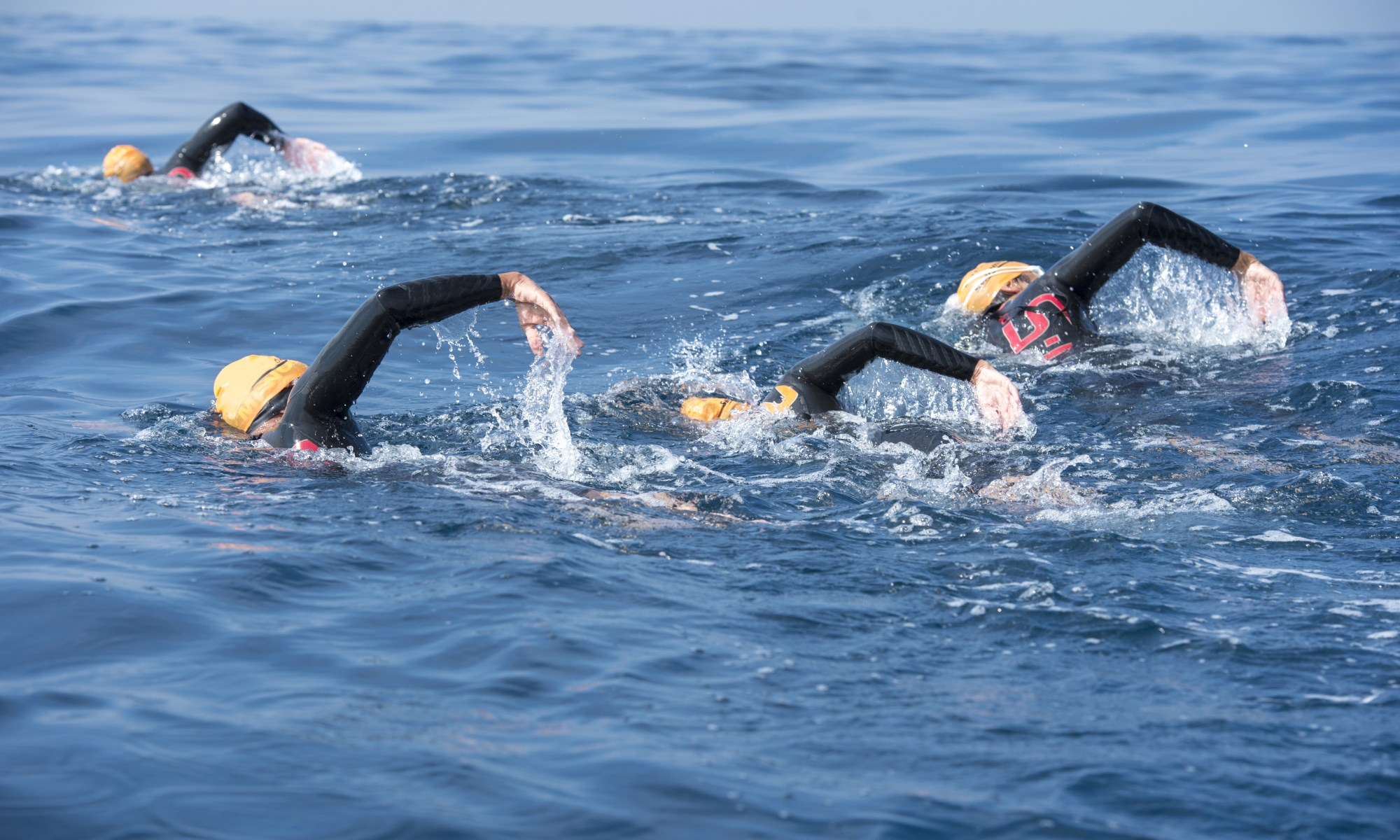 Open water swimming training with the Surf Swim School in North Devon