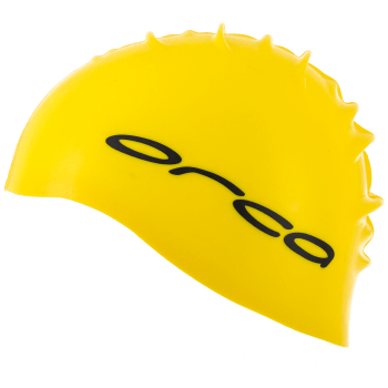 Orca swimming hat neon yellow