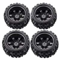 RCStation 17mm Hex RC Wheels and Tires 1/8 Scale RC Monster Truck Buggy Black