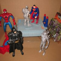 "toys and hobbies 5 assorted items including a game "" Superman Vs Metallo "". plus"