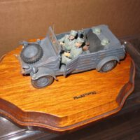 toys and hobbies German SS army vehicle with 2 German soldiers in it .