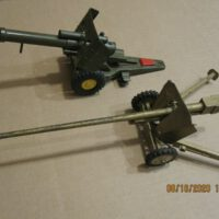 "toys and hobbies WWII German cannon & 1 unknown cannon 13.5"" & 10"" long."