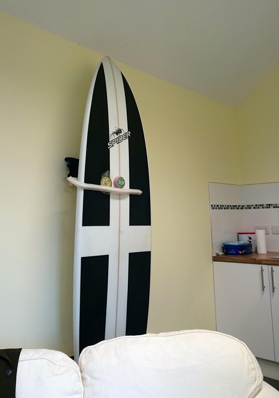 wall art display surfboard mount