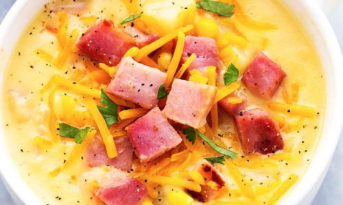 ham and potato cheddar soup