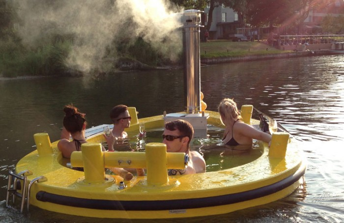 HotTug hot tub that doubles as a boat