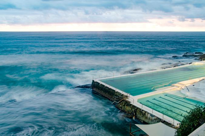 swimming pool at the Australian ocean