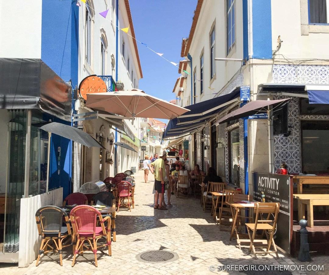 restaurants street ericeira