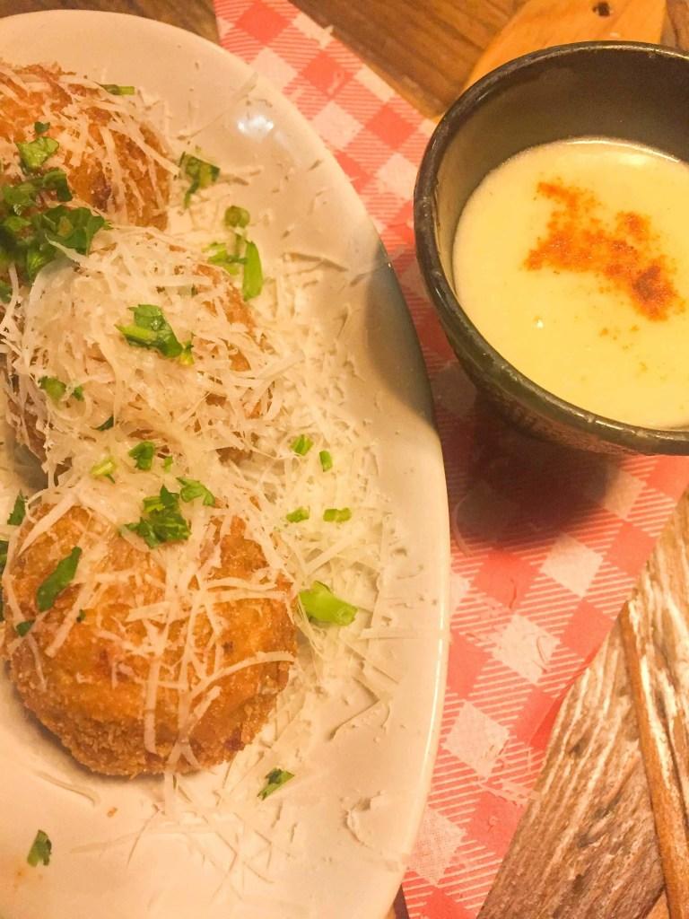 Jamie's Italian Lisboa porcini arancini