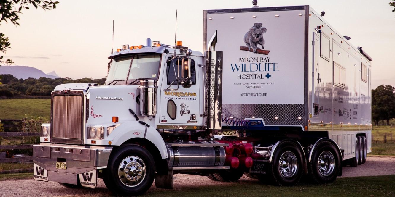A large mobile wildlife hospital
