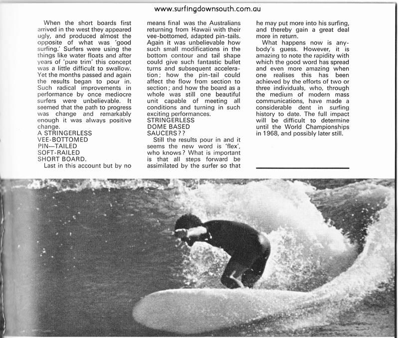 1968 Michael Wynne Trigg Point Surf International Mag - Greg Woodward pic