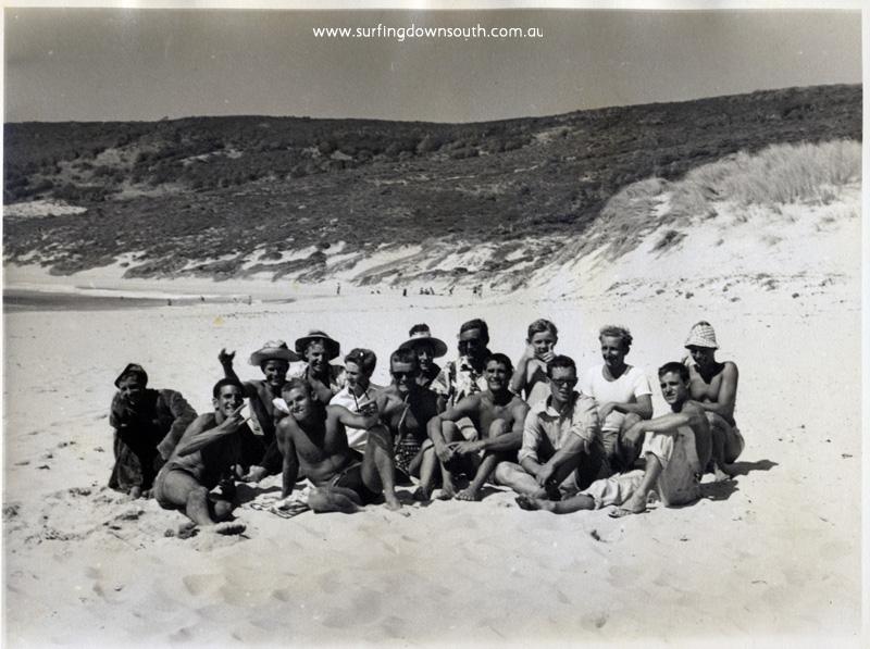 1956 Yalls beach boys xx B Huddle,D Bancroft, Cocko, R McNab, B Prately, D Williams,xx T Harbison, G Hammond, J Budge, A Taylor, xx - John Budge pic img361A