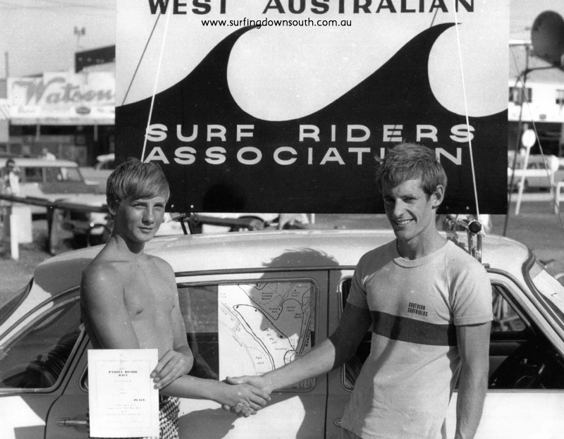 1967 Mandurah Kanyana Paddle Board Race Bruce King (Jnr) & Dave Ellis (open) - B King pic