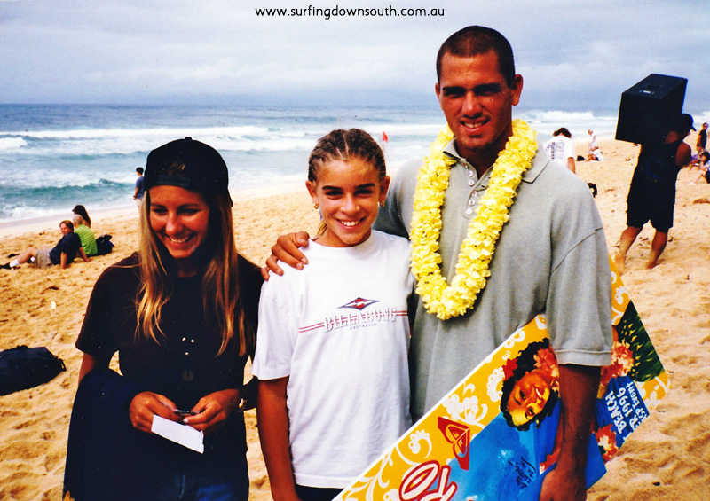 1996 Hawaii Kelly's partner, Crystal Simpson & Kelly Slater GS picA