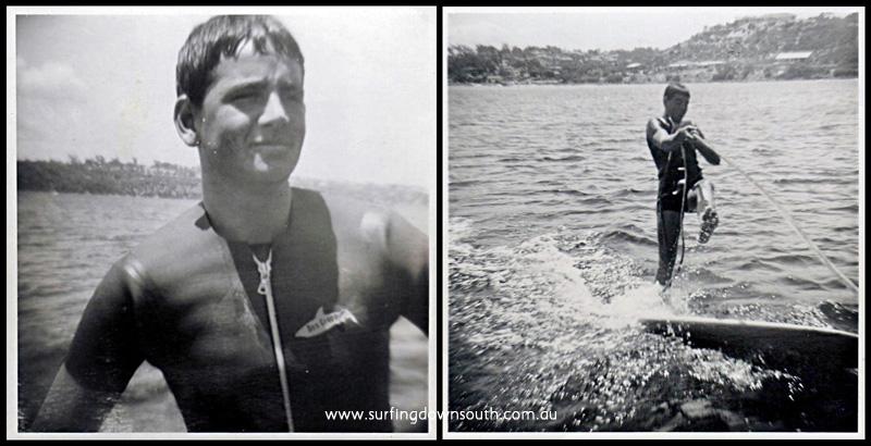 1964 Mark Waddell skurfing Swan River