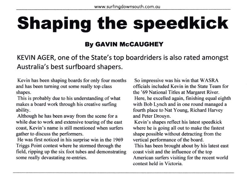 1970 Newspaper article Shaping by Gavin McCaughey IMG_01