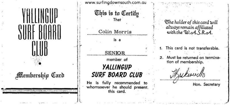 1960s YBC Membership Card - Colin Morris IMG_001