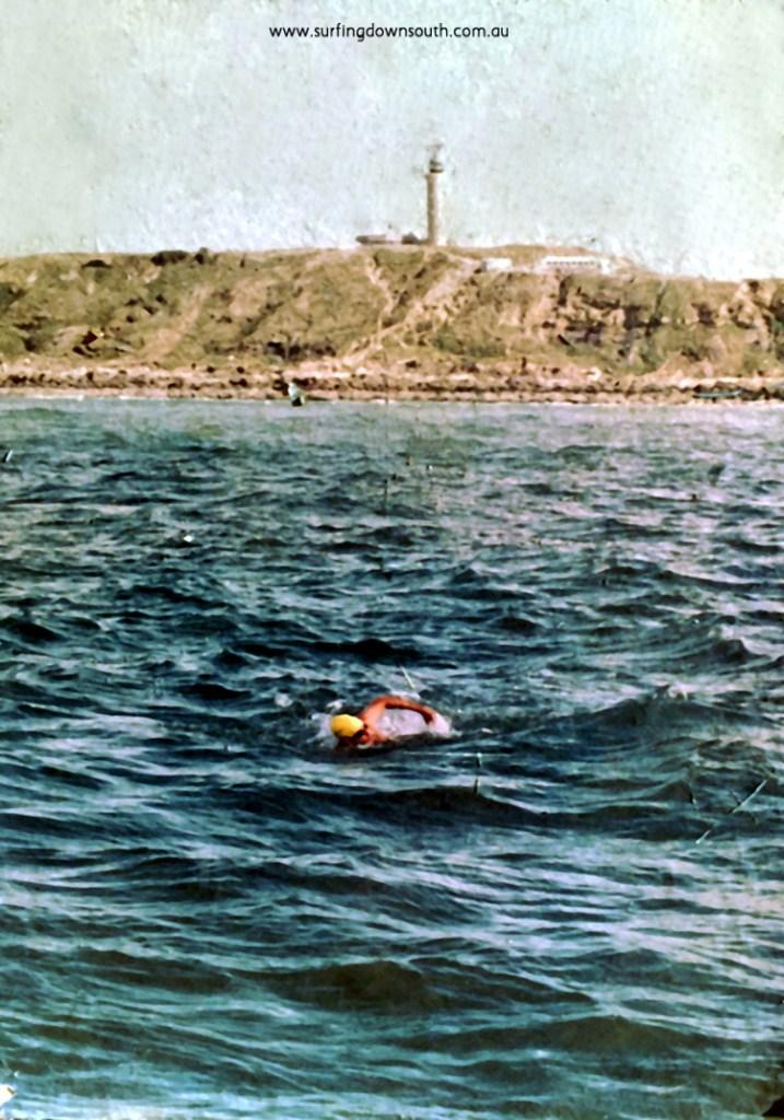 1980s Rod Bothwell leaving France on English Channel swim - P Bothwell. IMG_02