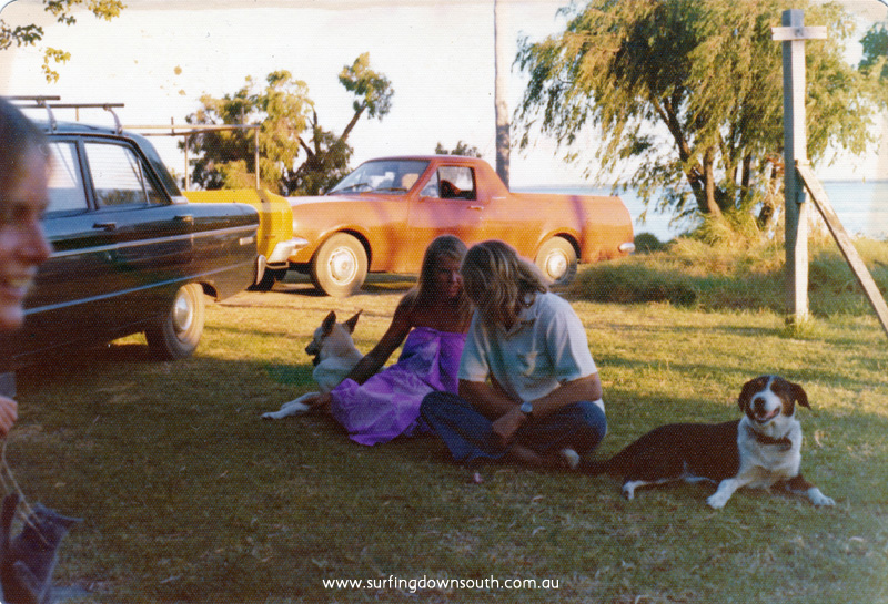 1975 Dunsborough Sally Gunter (Bakery) & Rick Lobe (Lighthouse) Mac's red ute, John Baldock black Falcon Grems dog Horse - Mac pic IMG 02