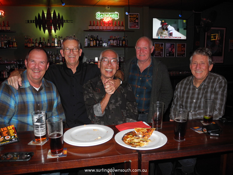 2015 Ric Chan at the Universal Bar Northbridge with Paul Cotton, Tom Blaxell, Jock Cambell & Peter Bevan - T Blaxell1