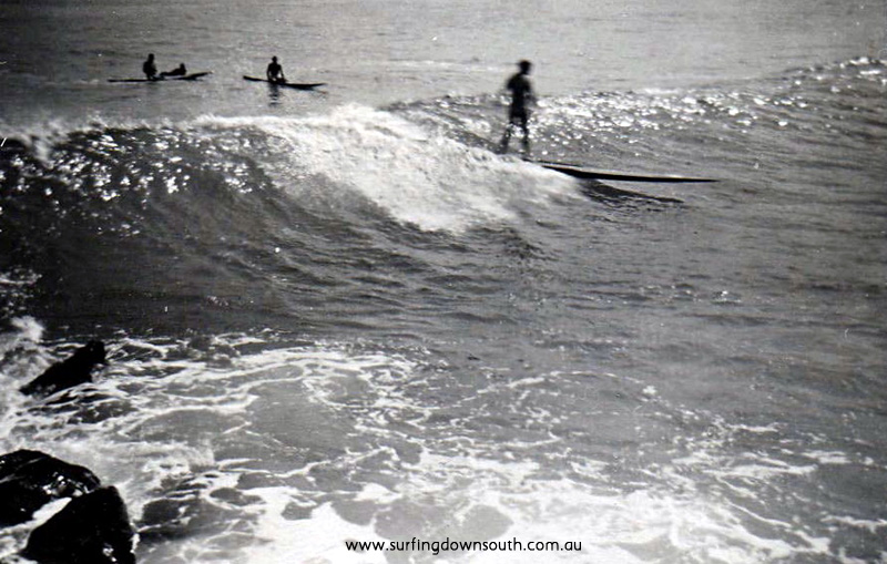 1953 City Beach groyne surfing Nth side