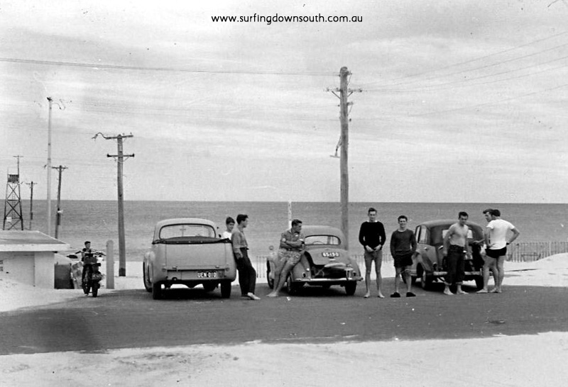 1957 City Beach Owen Oates Holden FX ute, Brian Cole Morris Minor & Laurie Burke Mayflower - Brian Cole pic
