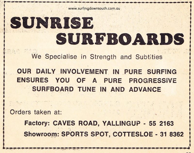 1976 Sunrise Surfboards advt WASRA Spring Titles Prog IMG_0003