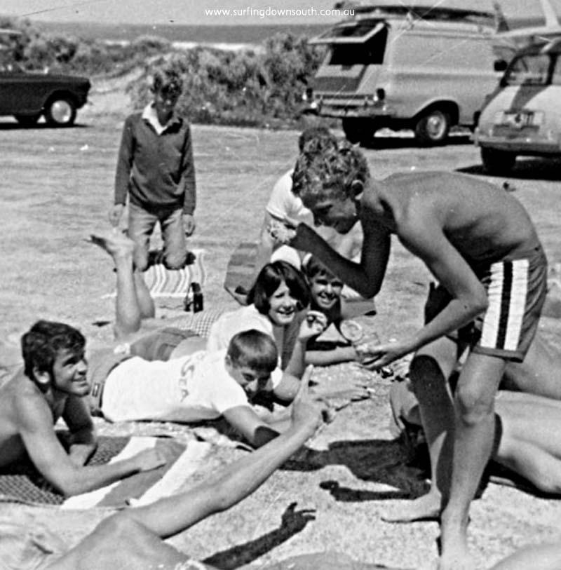 1967 Midge Semple & CBSR crew at Mandurah Trevor Burselm pic
