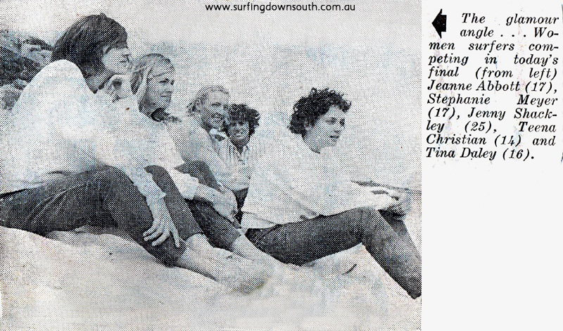 1964 Yalls First State Surfing Titles - WA Newspaper pic ex Tina Daly 2