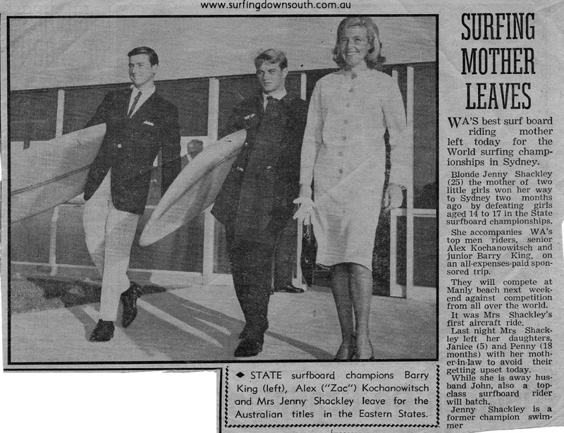 1964 Zac, Barry & Jenny leaving for NSW