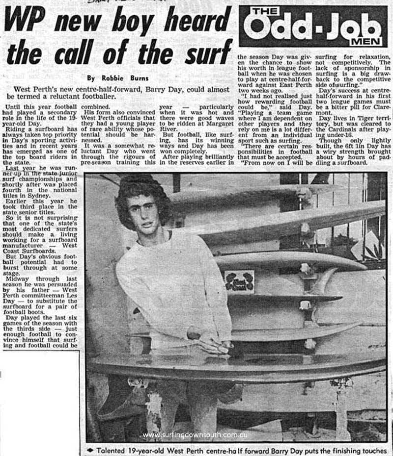 1974 Barry Day - profile ex Daily News A