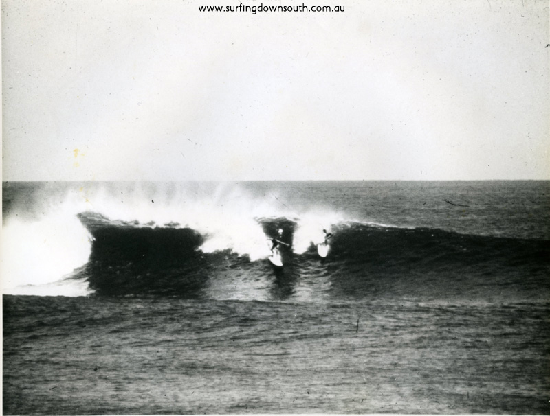 1961 Gallows outside break J Keenan & Puppydog on NSW Barry Bennet boards - J Keenan pic