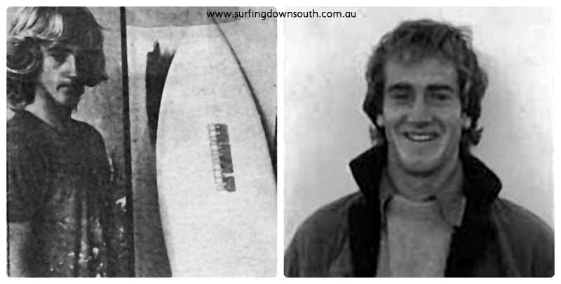 1970s Craig Bettenay at Cordingley surfboards collage_photocat