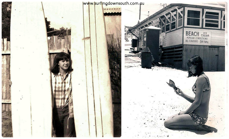 1966 Gayle Franks at City Beach collage_photocat